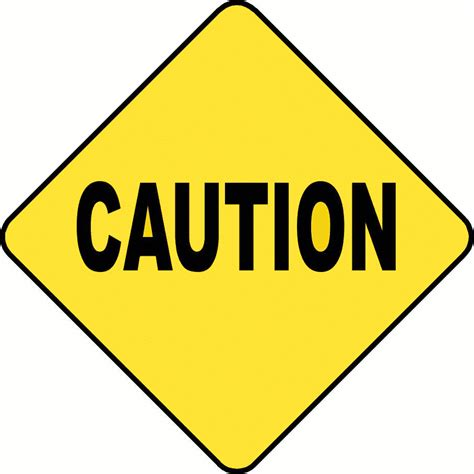 caution sign template clipart best