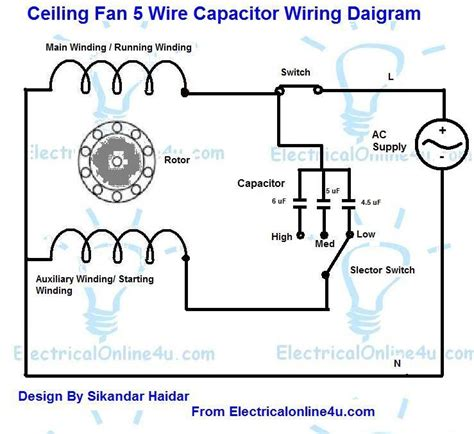 cbb61 fan capacitor wiring diagram 5 wire ceiling fan capacitor wiring diagram electrical 4u