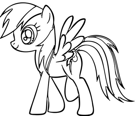 coloring book pages my pony print rainbow dash coloring sheet