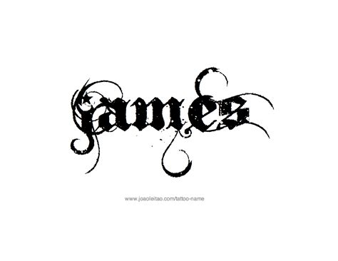 james tattoo designs name