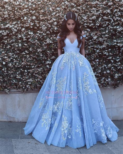 baby blue floor l lace floor length off the shoulder formal dress 2018 baby