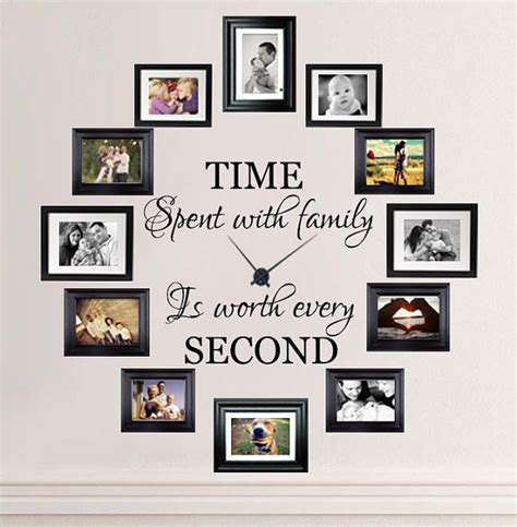 a dozen of the best home decor gift ideas time spent with family is worth every second wall decal