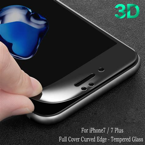 Iphone 6 6s Plus Tempered Glass Curved Edge Protection Screen 0 2 T19 5 for iphone 7 screen protector 3d curved edge cover tempered glass guard for iphone 6