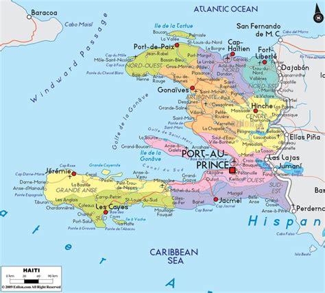printable map haiti map of haiti and haitian political map maps pinterest
