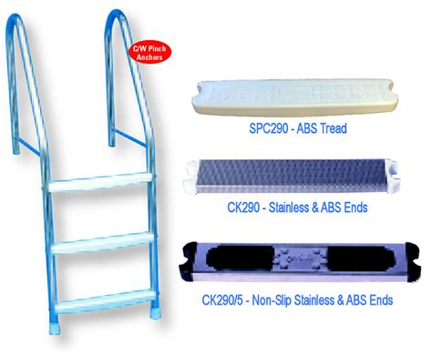 certikin swimming pool ladder tread swimming pool certikin 1 5 quot 38mm liner pool ladder