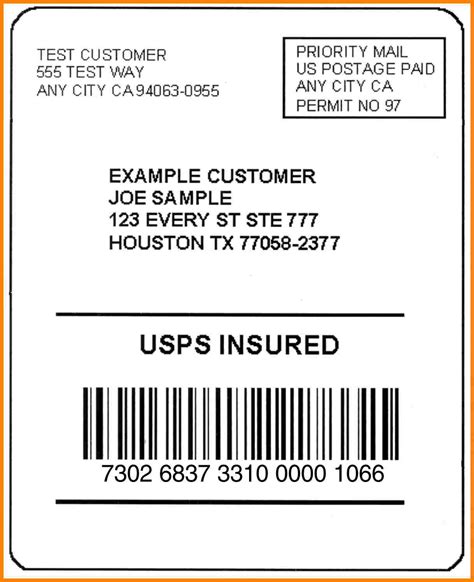 usps shipping label template 6 usps shipping label template introduction letter