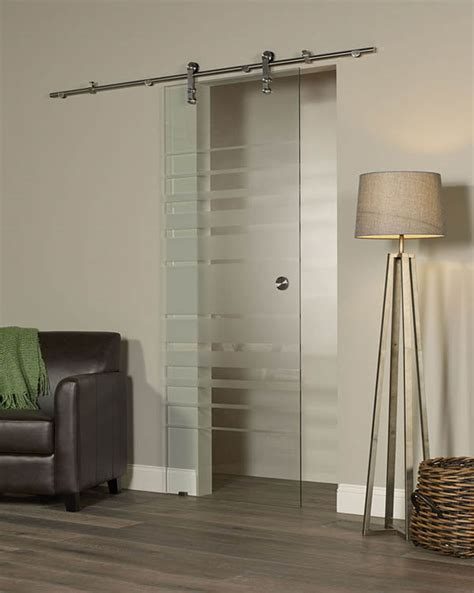 New Visions Glass Barn Door   Peppermill Home