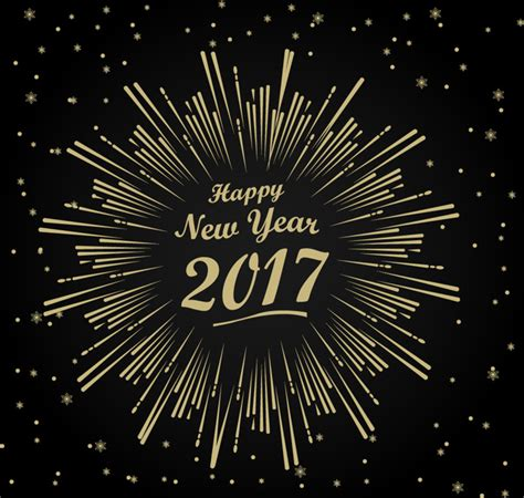 new year template 2017 new year template with fireworks design free vector