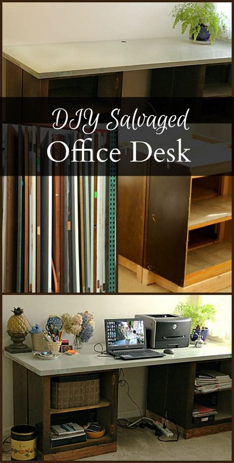 diy desk from door diy office desk from a door and cabinets hearth vine