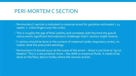 perimortem c section video ppt obstetric emergencies powerpoint presentation id