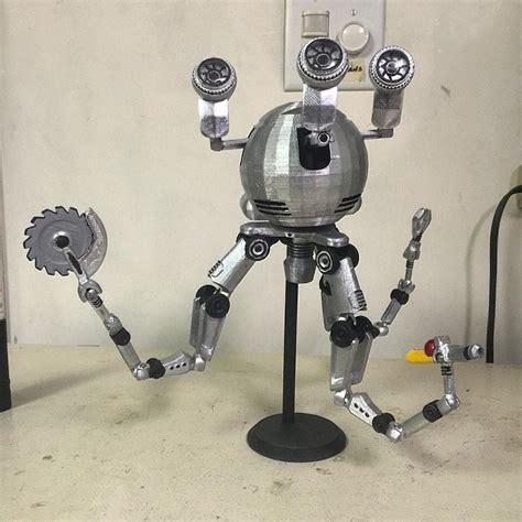 bobblehead 3d machine a 3d printed version of codsworth the mr handy robotic