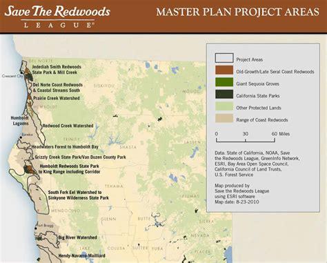 map of oregon redwoods redwood trees california map