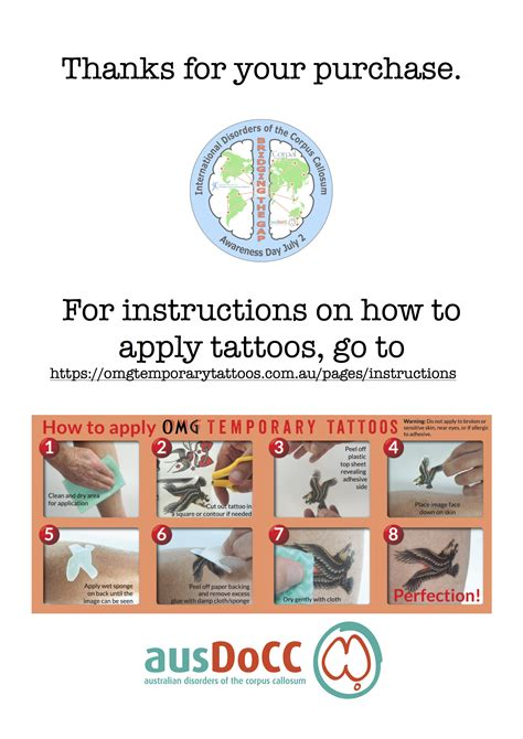 tattoo instructions ausdocc 187 roar for dcc recognition opportunities