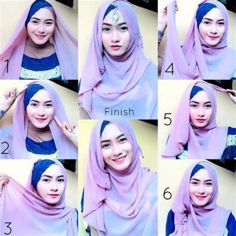 hijab tutorial simple look tanpa jarum dan peniti papasemar com 11 tutorial hijab segi empat simpel ini