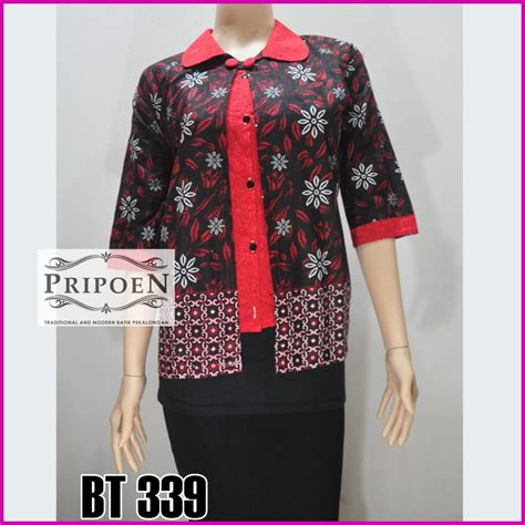 Blouse Atasan Wanita Batik Bl332 model blouse batik atasan wanita terbaru bt 339