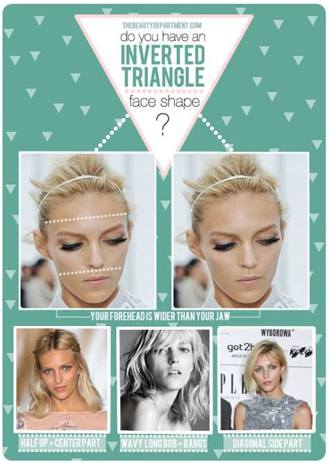 dos and donts for heart face shapes inverted triangle face shapes and triangles on pinterest