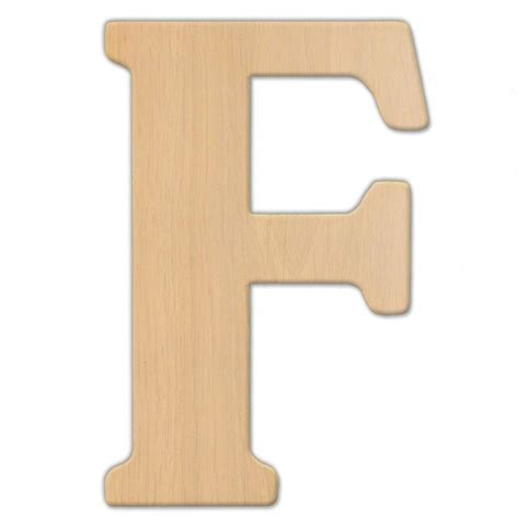 jeff mcwilliams designs 15 in oversized unfinished wood letter f 300309 the home depot