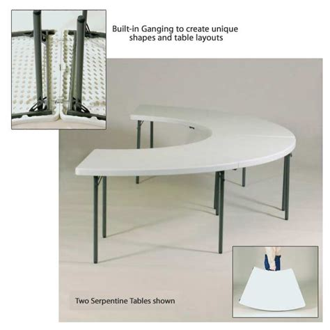 plastic resin banquet food service folding tables