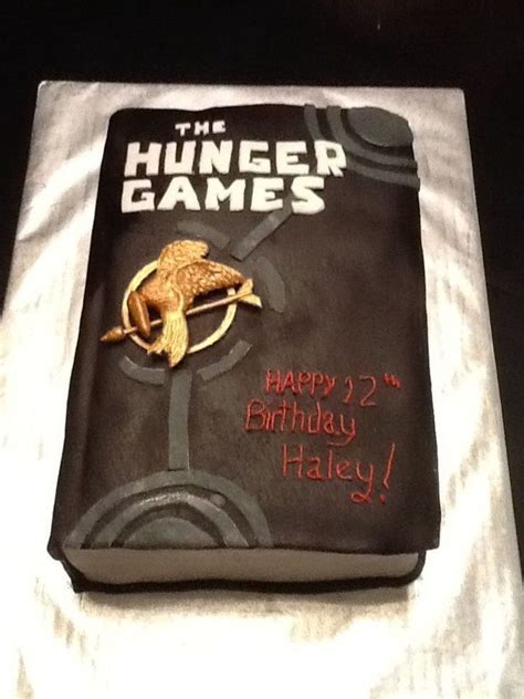 replica book one in the hunger games birthday cake replica of book one cakecentral com