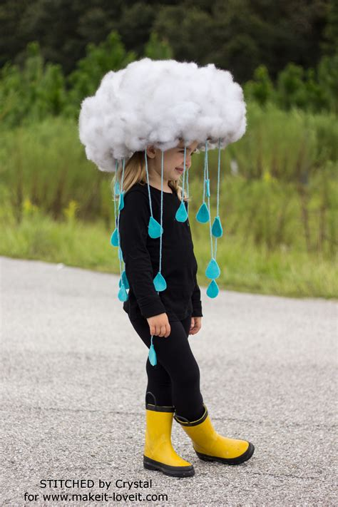 comfortable costumes make a quick easy rain cloud costume for all ages