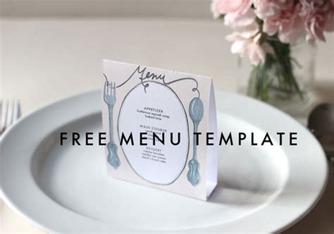 free table menu card template free downloadable diy wedding menus etsy weddings