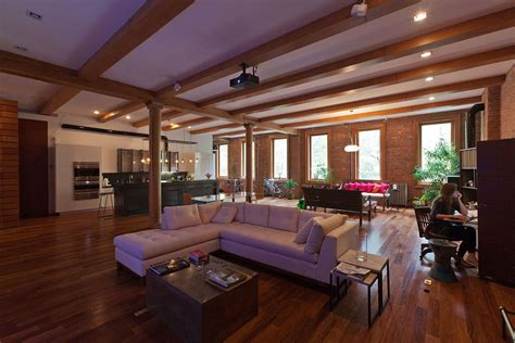 loft living room new york style loft living modern contemporary decorating