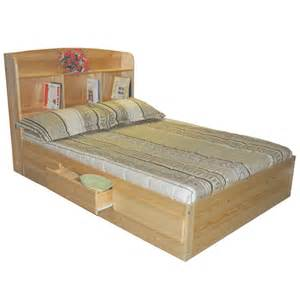 Full Size Loft Bed Plans Full Captains Bed Youth Mates Bed Natural Storage Beds