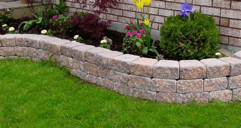 The Garden Accent Retaining Wall System Is The Right Retaining Wall Garden Bed
