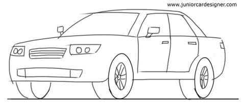 Car Drawing car drawing tutorial 4 door car 3 4 front view junior