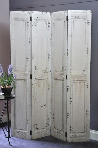 fold up screen room divider folding screen provincial style solid timber shabby chic white wooden ebay peggys