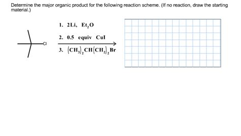 draw scheme solved determine the major organic product for the follow