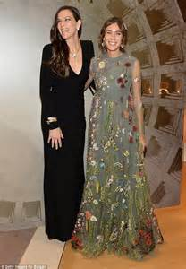 Code Alexya Dress Brown chung in floral embroidered gown at bulgari launch