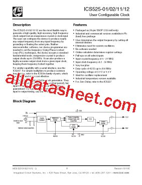 device electronics for integrated circuits pdf español ics525r 02ilf datasheet pdf integrated circuit systems