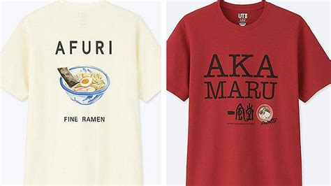 uniqlo releases shirts inspired  afuri ippudo