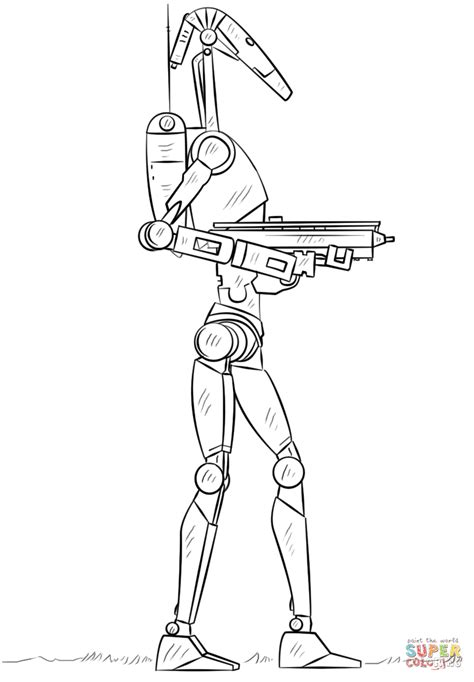 star wars droid coloring page battle droid coloring page free printable coloring pages