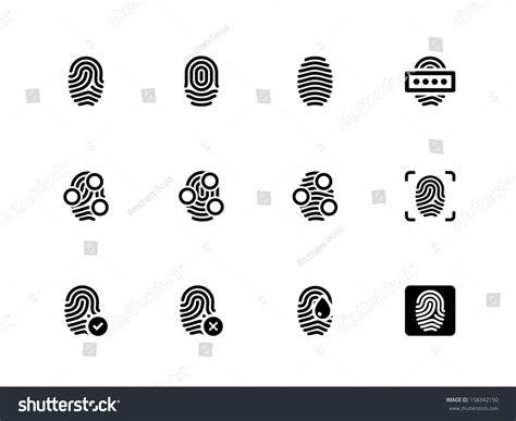 Where Can I Get Fingerprinted For A Background Check Fingerprint Icons On White Background Vector Illustration 158342150