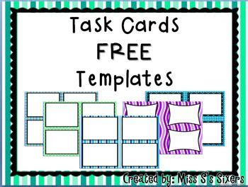 task card template powerpoint 1290 best images about classroom ideas on