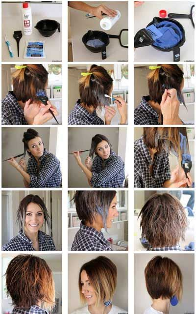 how to do ombre hair at home step by step photos ombre