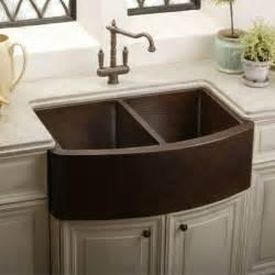Copper Kitchen Sink Undermount - elkay ecuf3319ach gourmet undermount apron front double bowl copper kitchen sink copper mom