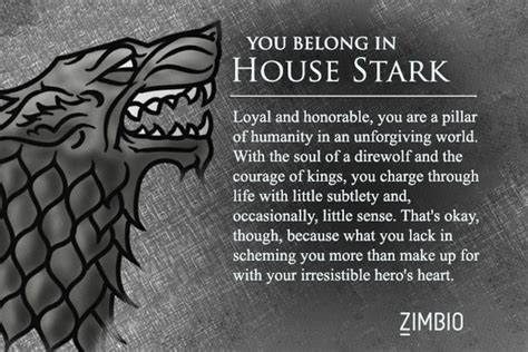 which of thrones house are you quiz zimbio