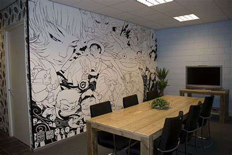 awesome wall murals cubeelog 187 weber meeting room anime mural