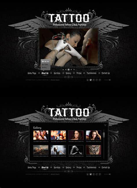 simple tattoo website tattoo html5 template 111631 simple templates