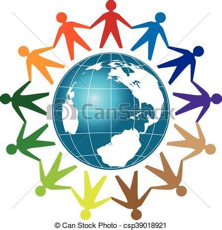 People Unity Logo People Unity With Earth Globe Template Logo Community Logo Unity Logo Communication Logo