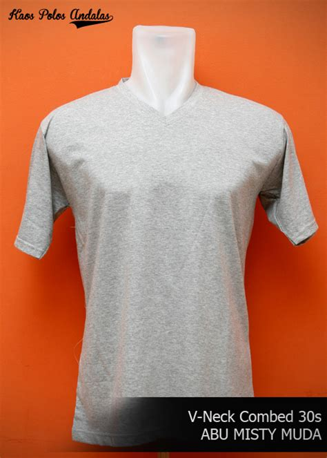 Kaos Polos Vneck Cotton Combed 20s grosir kaos polos vneck bahan cotton combed 30s grosir