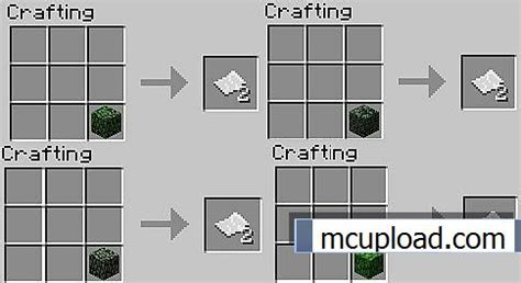 paper crafting recipe leaves to paper 1 4 6 mod for minecraft