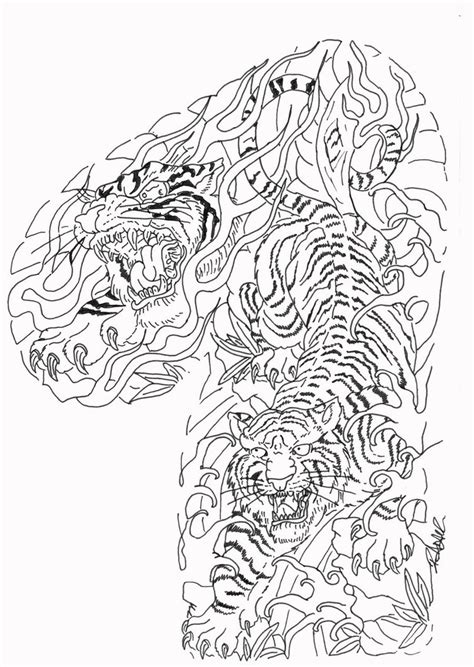 tiger tattoo outline designs tiger outline