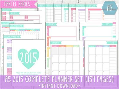 free printable weekly planner pages 2015 9 best images of cute printable 2015 planner free