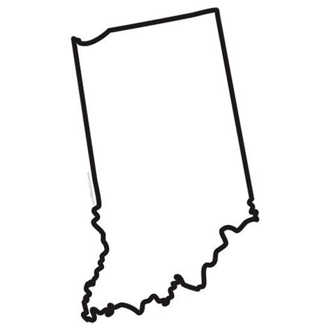 Indiana State Outline Clipart by Indiana State Outline Cut Out Sticker Shop Indiana State Gear Http Www Carolinaswagger