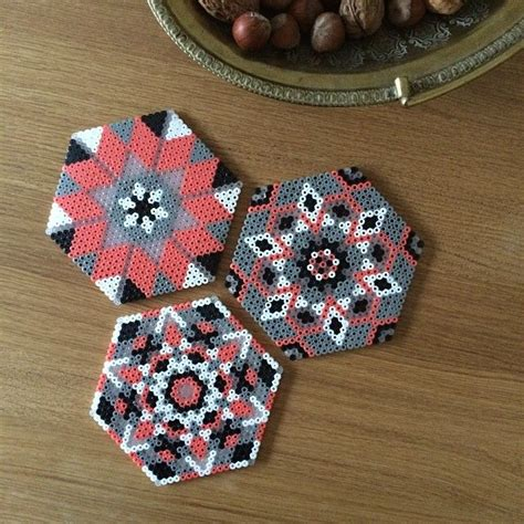 perler bead coasters coasters hama perler by leantropisk interior id