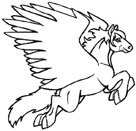 coloring pages of flying horse horse coloring pages preschool and kindergarten